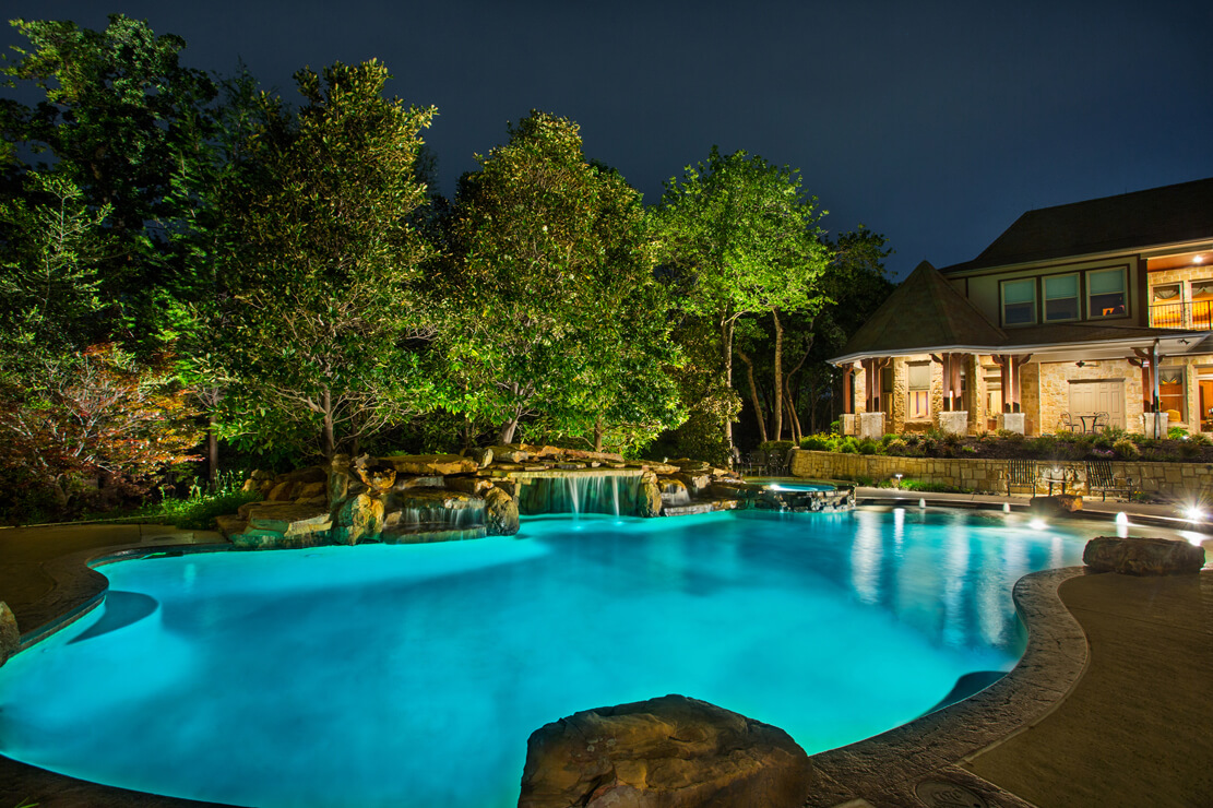 Home And Backyard landscape lighting | landmark design company